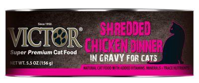 Victor Cat GF Shredded Chicken Dinner in Gravy