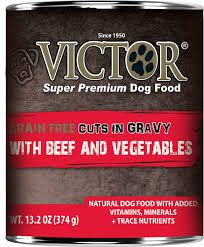 Victor Dog GF Cuts in Gravy with Beef and Vegetables Stew