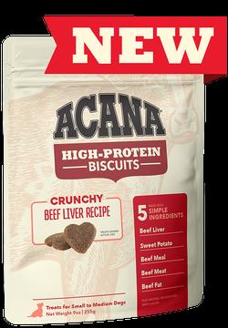 Acana High Protein Biscuit Crunchy Beef Liver 9oz