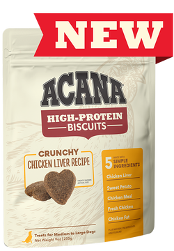 Acana High Protein Biscuit Crunchy Chicken Liver 9oz