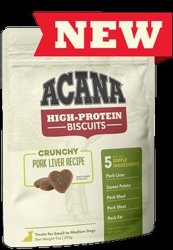 Acana High Protein Biscuit Crunchy Pork Liver 9oz