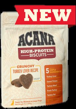 Acana High Protein Biscuit Crunchy Turkey Liver 9oz